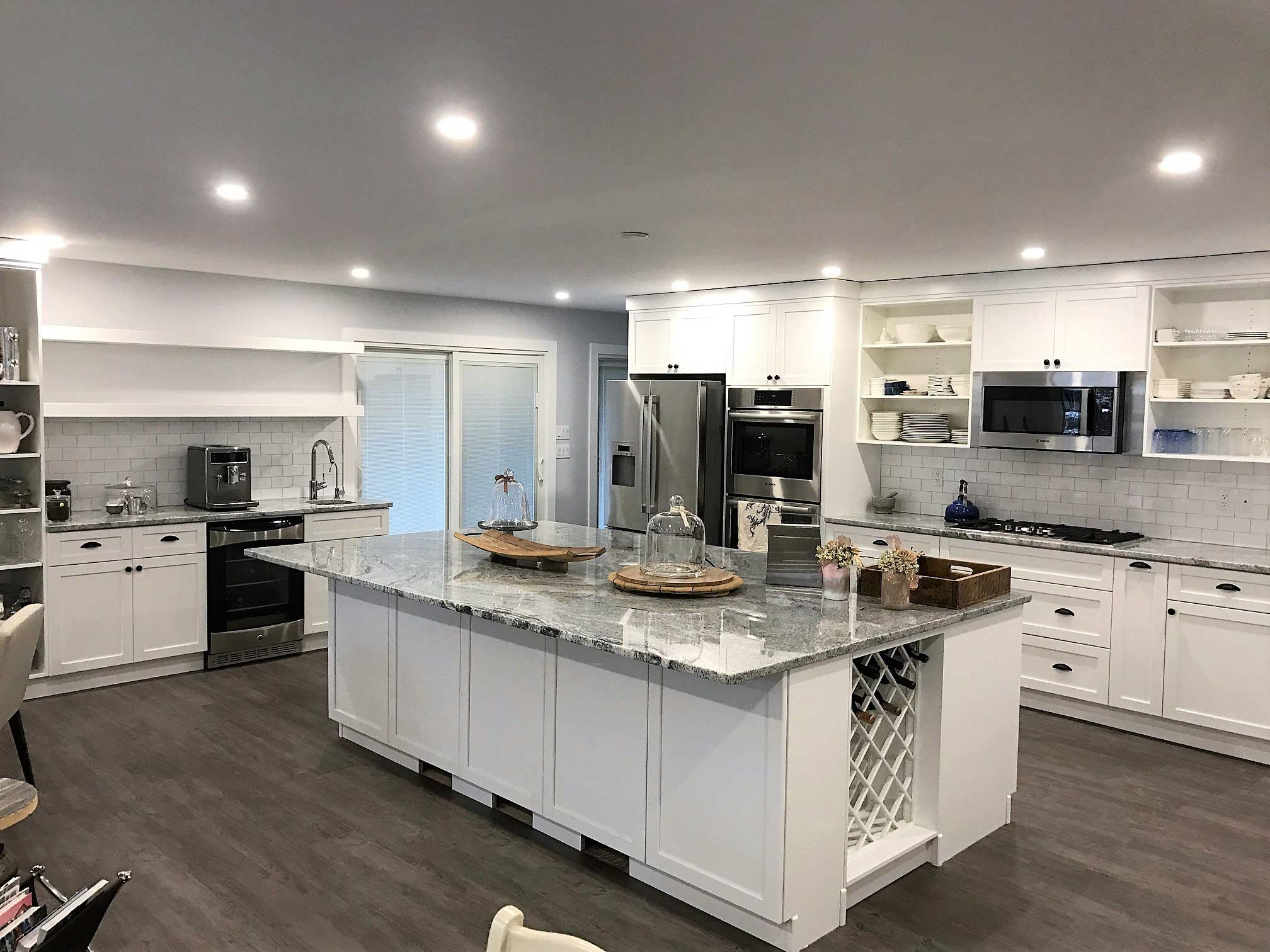 white kitchen and equipment