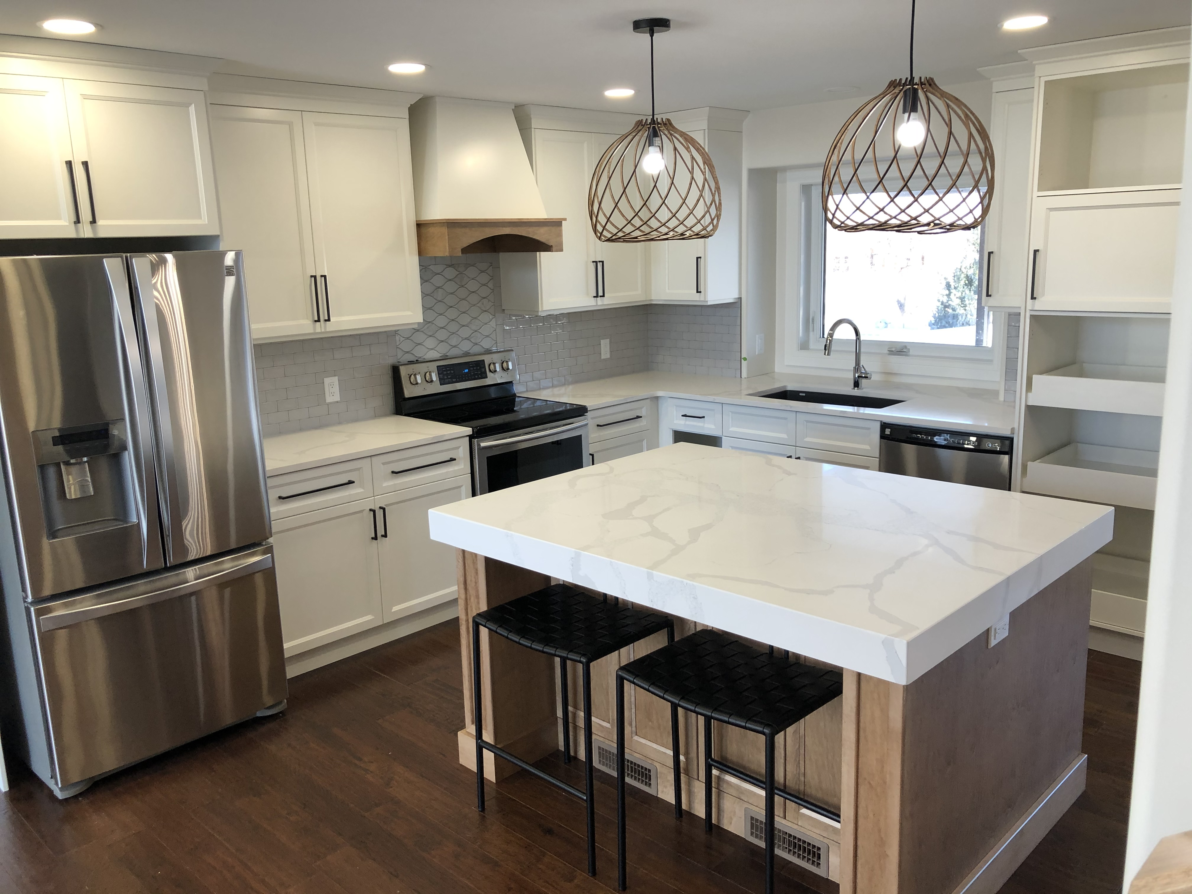 view of an island kitchen countertop 2